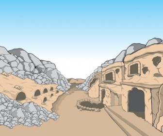 Stone Cave Vector