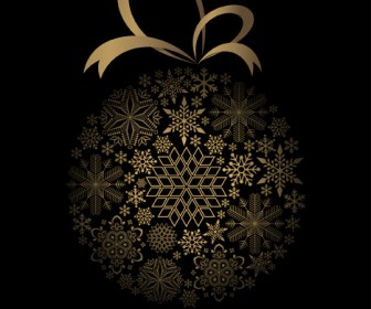 Snowflakes Christmas Ball Vector Art