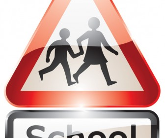 Glossy shiny school signs
