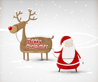 Santa Claus Cartoon Vector Artwork