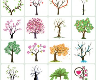 Vector Tree collection illustration