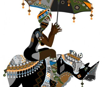 Illustration of African girl
