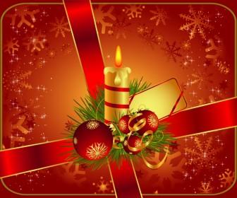 Christmas Gift and Ribbon Greeting Card