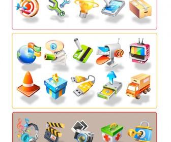 30 Icons Set Vector Art