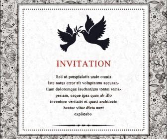 Vector vintage invitation card