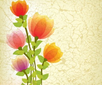 Abstract Stylized Flower Illustration