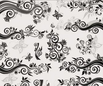 Illustration Swirl Floral Pattern Vector