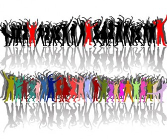 Free vector Silhouettes Dancing People