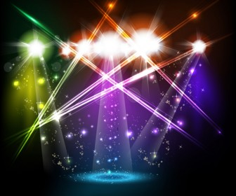 Bright Stage Lighting Effects Vector