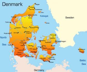 World Maps Denmark Illustration