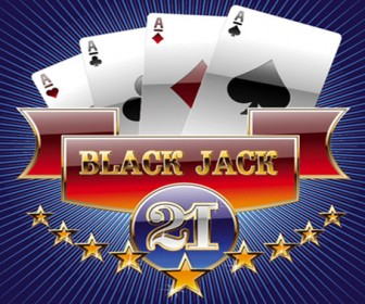 Vector Black Jack Game Illustration