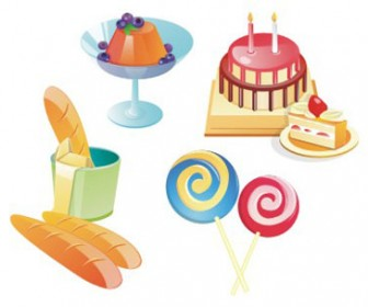 Free stock vector design elements 3D set icon cake 39