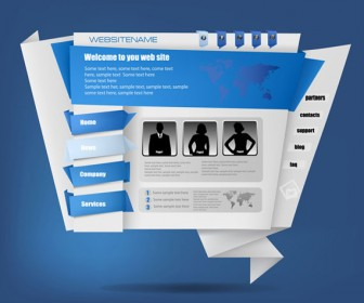 Origami Website Design vector