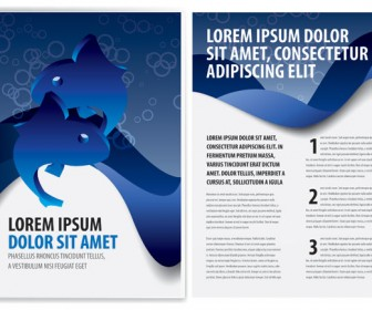 Blue Business Brochure Template Vector