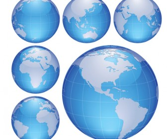 Blue Globe Vector Pack