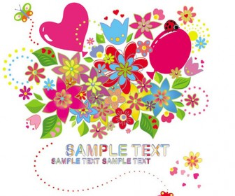 Colorful flower background vector illustration