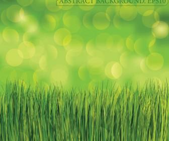 Green grass background vector art