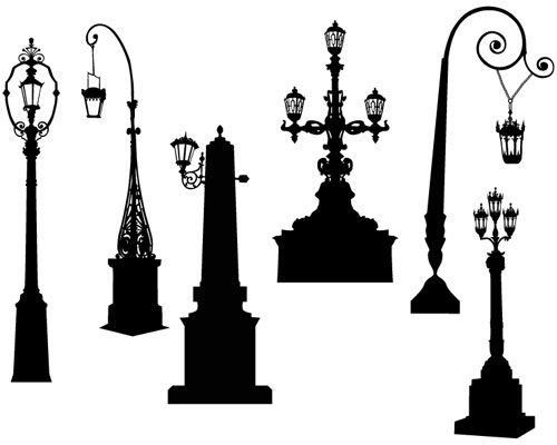 Vector Lamppost Street Road Light Pole Ai Svg Eps