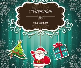 Christmas Invitations Vector Elements