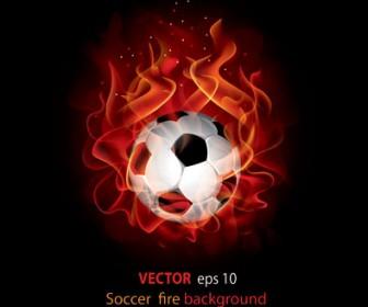 Soccer Fire Illustration Vector
