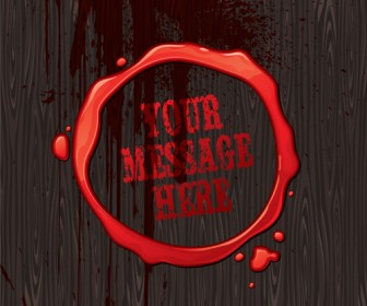 Blood Message Illustration