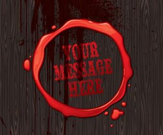 Blood Message Illustration