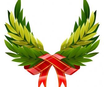 Wings wreath vector