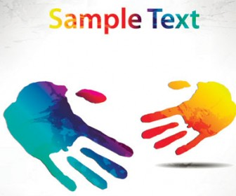 Abstract Hand Background Vector