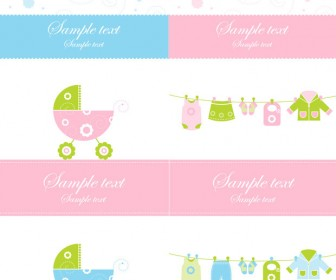 Baby Card Template Vector Art