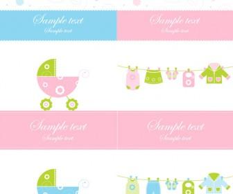 Baby Card Template Vector Art