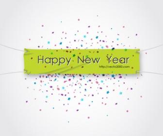 Vector Happy New Year Banner