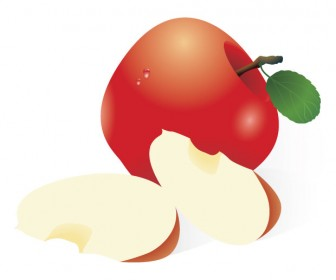 Red Apples Vector Graphic