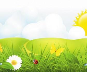 Spring plant vector wallpaper