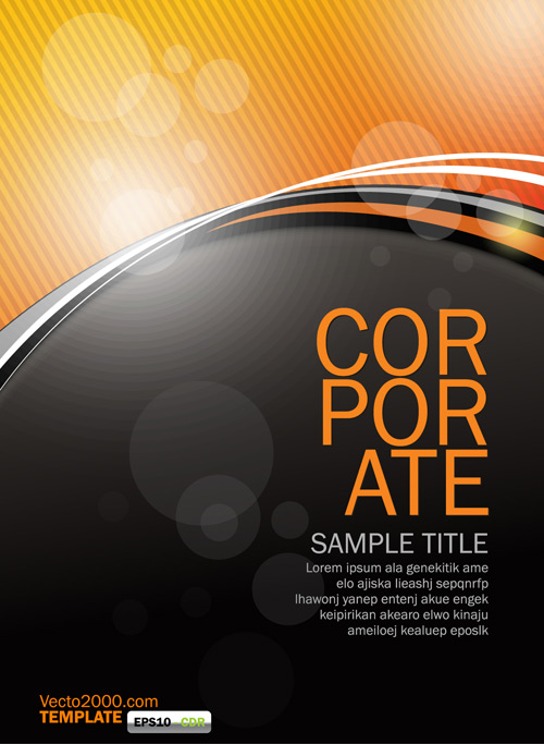orange flyer template