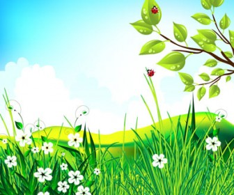 Green Scenery Vector Landscape