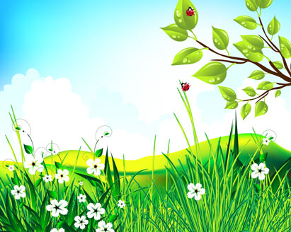 Green Scenery Vector Landscape Ai Svg Eps Vector Free
