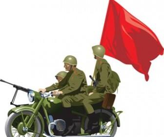 Soviet Army Vector Illustration