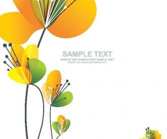 Card spring flower vector illustration