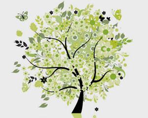 Green Tree Illustration Vector