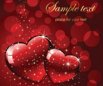 Background Valentine Card Red Style