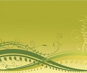 Spring Floral Frame Vector Wallpaper