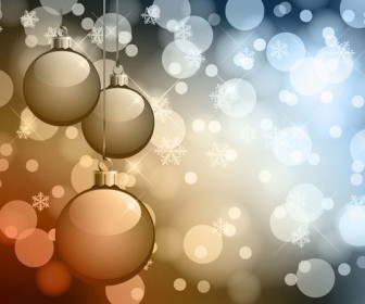 Abstract Bokeh Background Christmas Vector