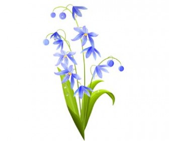 Green Blue Spring Flower