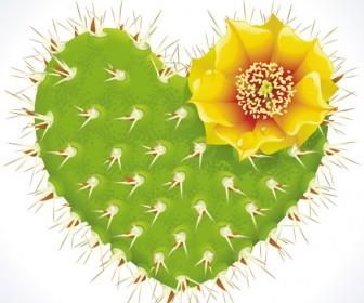Thorny heart. Vector thorny
