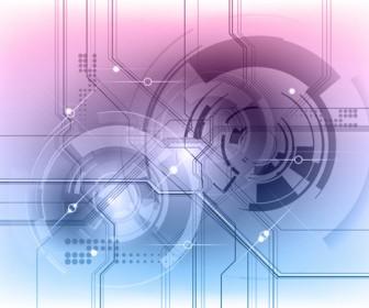 Modern tech background vector