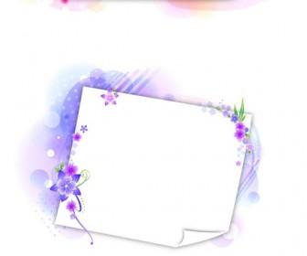 Violet frame flowers vector