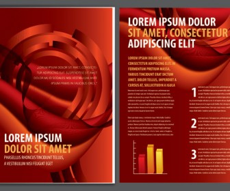 Red Business Brochure Template Vector