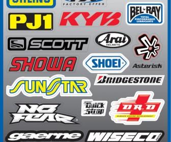 Auto Sticker Logo Vector Set