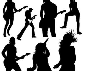 Singer Silhouette Music Vector Pack