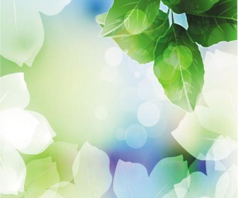 Green Leafs Background Vector Art